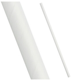 Smoothie Plain White (197mm x 8mm) Paper Drinking Straws