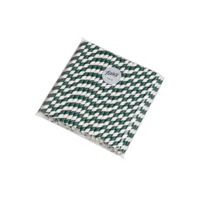 Larger Bore Smoothie (10mm x 210mm) River Teal & White Stripe with 45 Degree Cut
