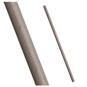 Bulk Case Plain Grey Biodegradable Paper Drinking Straws Diameter 6mm x 197mm