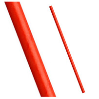 Plain Red Biodegradable Paper Drinking Straws - 197mm x 6mm (Regular)