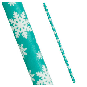 Christmas Ice Green with White Snow Flake
