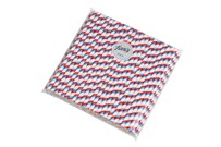 Smoothie Red White and Blue Stripe Biodegradable Paper Drinking Straws Size: 8mm x 197mm