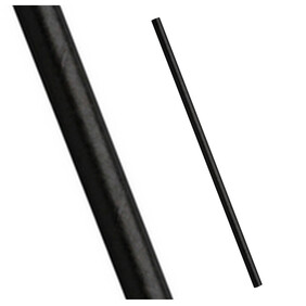 Bulk Case Plain Black Stripe Biodegradable Paper Drinking Straws Diameter 6mm x 197mm