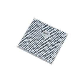 Smoothie Aegean (Navy) Blue & White Zig Zag (197mm x 8mm) Biodegradable Paper Drinking Straws