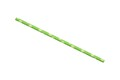 Green with Yellow & White Daisies Biodegradable Paper Drinking Straws - Size: 197mm x 6mm (Regular)