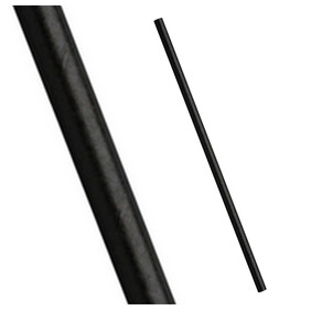 Plain Black Biodegradable Paper Drinking Straws - Size Options